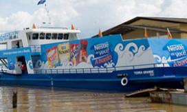 Varende super Nestlé op Amazone