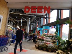De winkel begint met bloemen, ook een speerpunt
