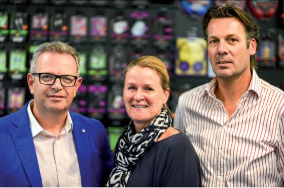 Salesmanager Remco Smit, Marketing Manager Brenda van Leeuwen en Sales Channel Manager John van der Ree.