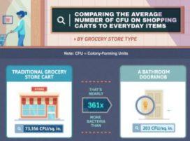 Meer bacteriën op winkelkar dan op toiletdeur