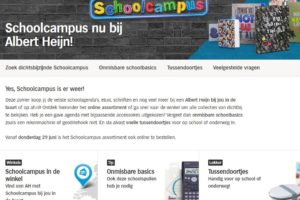 AH start verkoop Schoolcampus-assortiment