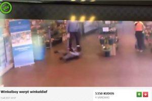 Video: AH'er vloert dief met judoworp