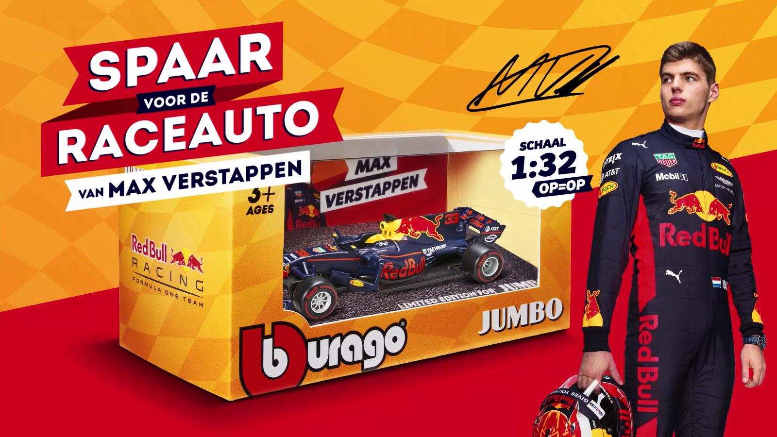 Jumbo Laat Sparen Voor Modelauto Max Verstappen