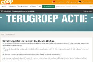 Coop waarschuwt: mogelijk glas in ijsblokjes