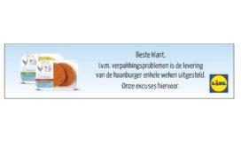 Lidl stelt intro haanburger uit