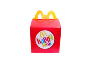 Chocomel, Fristi, cheeseburger uit Happy Meal
